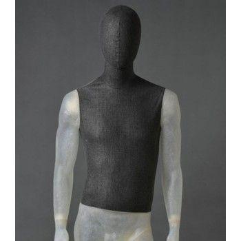 Mannequin vitrine homme transparent