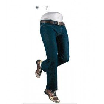 Manichino uomo flessibile: gambe flessibili articolate Nero