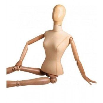 Mannequin femme abstrait bois - bcf5-1-b0-m