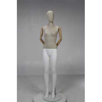 Female display mannequin in wood MN-Y-515