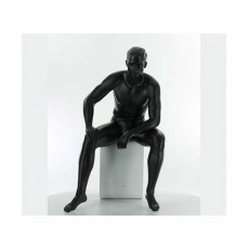 Seated male window mannequin ma-9-03