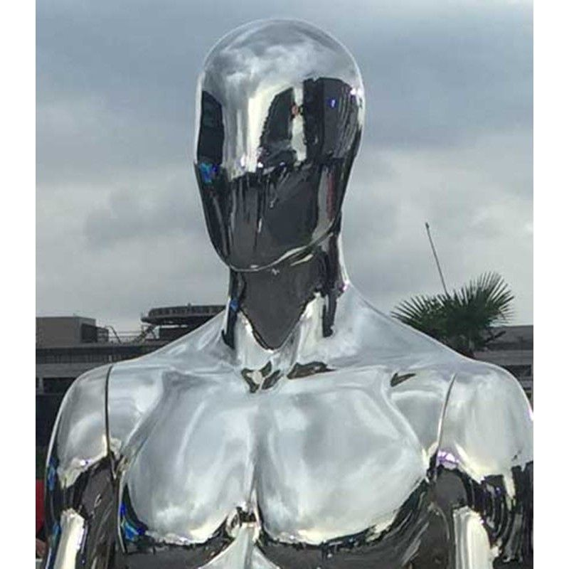 Male sport mannequins chromed ftb1a