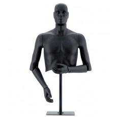 Maniqui caballero flexible : Busto con cabeza extraíble