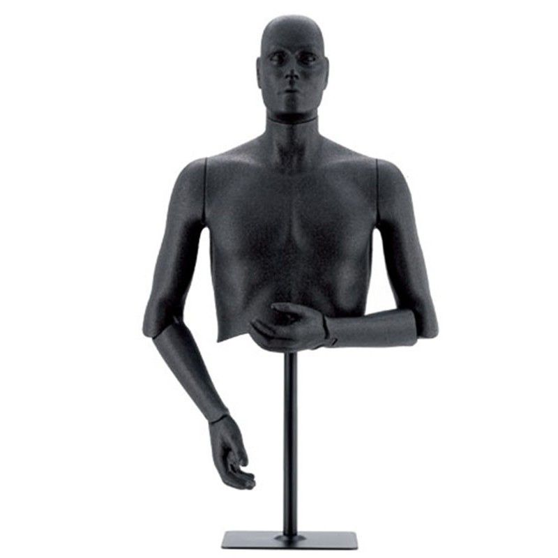 Mannequin flexible homme : Buste à tête amovible