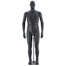 Flexible male mannequin black