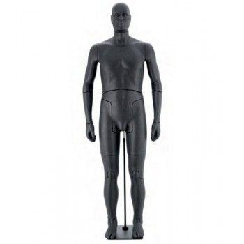 Flessibile manichini uomo nero