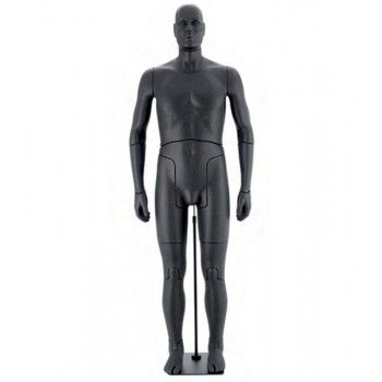 Maniquí masculino flexible negro