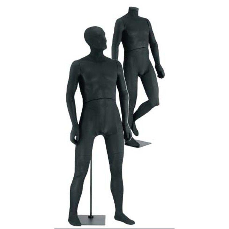 Flexible herren schaufensterpuppen schwarz