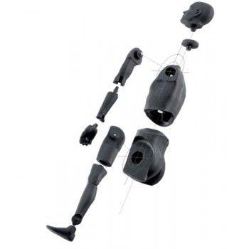 Flexible male mannequin 00100bb black