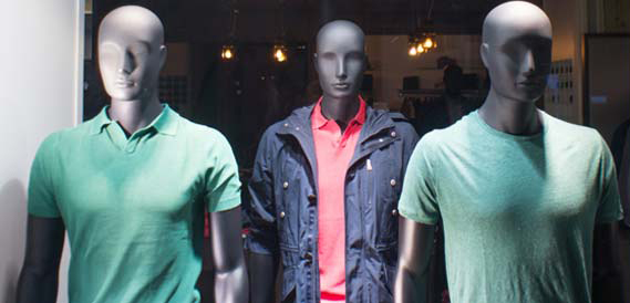 Mannequins hommes abstraits